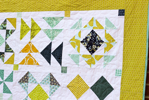 Half-Square Triangle Block of the Month Quilt by Jeni Baker