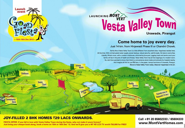Launching Mont Vert Vesta Valley Town Urawade Pirangut 14 km from Hinjewadi Phase 3 & Chandani Chowk Paud Road Kothrud Pune