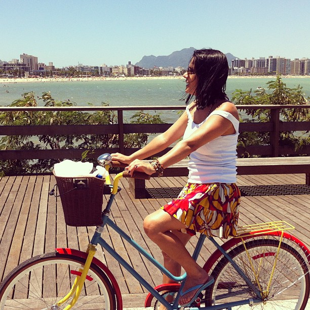 Vitória Cycle Chic com @ira_alves. #vix #cyclechic