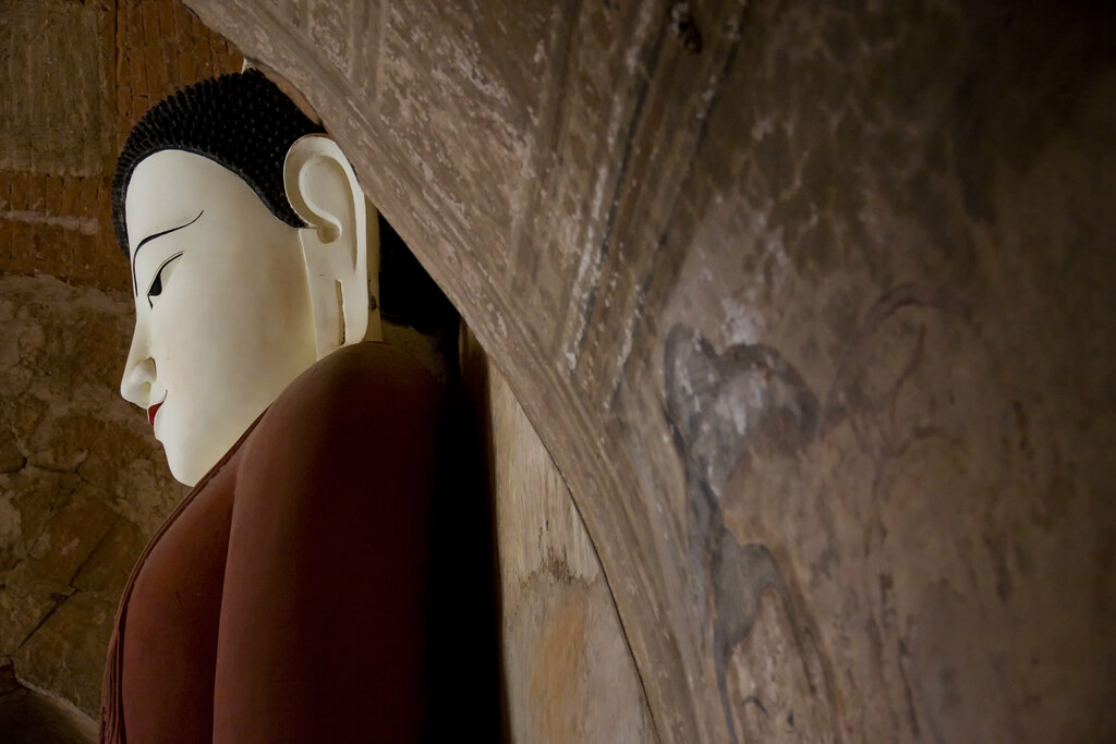 A Bagan Buddha In A Temple Alcove