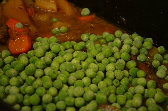 add peas frozen
