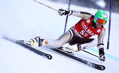 Dustin Cook during World Cup giant slalom in Alta Badia, Italy.