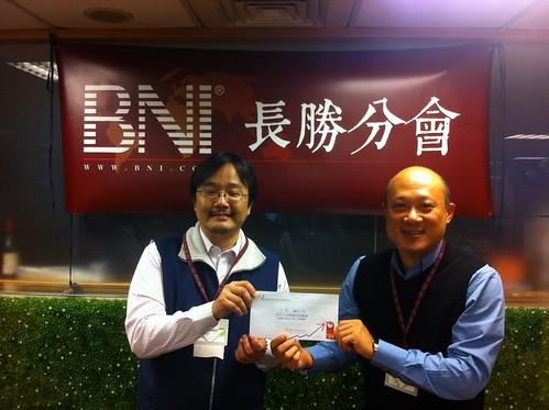 BNI長勝分會:心靈海的蔡明德顧問續約一年 by bangdoll@flickr