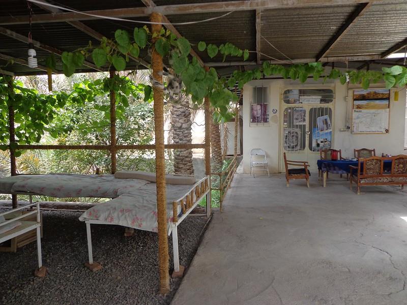 Pátio central do Akbar Tourist Guest House em Bam Irão