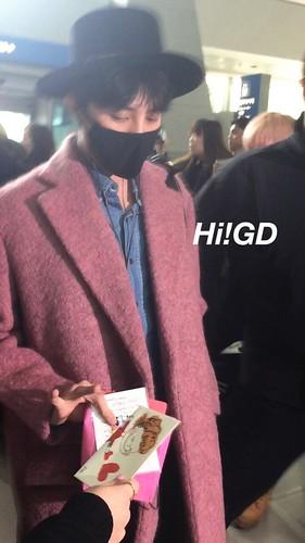 Big Bang - Incheon Airport - 21mar2015 - G-Dragon - Hi GD - 03