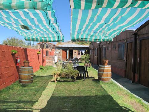 Cafayate: notre hôtel, ses cabanes et sa terrasse