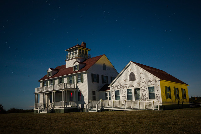Lit up by the Harvest Moon - Old Coast Guard Station at Coast Guard Beach