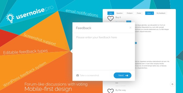Usernoise Pro v5.0.1 - Modal Feedback & Contact form