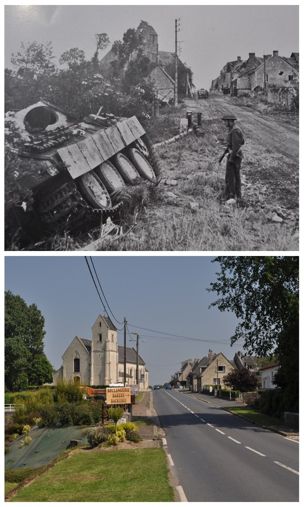 Lingevres, Normandy - Then & Now - 1944 & 2010