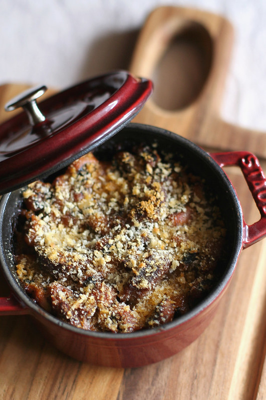 pork confit & black eyed pea cassoulet with honeycrisp apple & sweet ...
