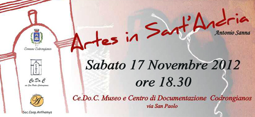 Mostra Artes in Sant'Andria - Cedoc, manifesto