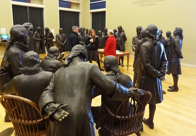 statues-constitution-center