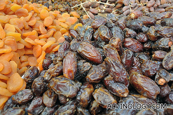 Preserved dates, prunes and such