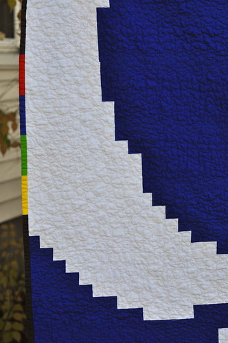 Google quilt - binding detail