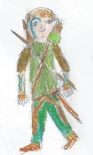 Lucas's Halloween Costume Design: Wood Elf