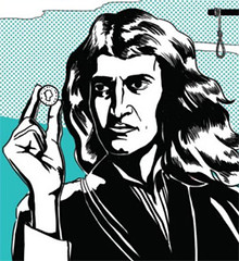 Isaac Newton as Dirty Harry