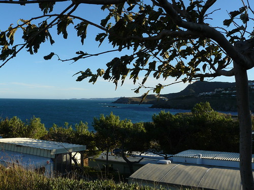 vue vers cap Cerbère et l'Espagne