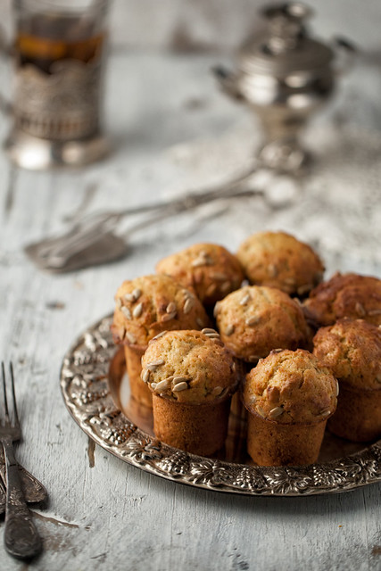 Muffins With Carrots And Sunflower Seeds