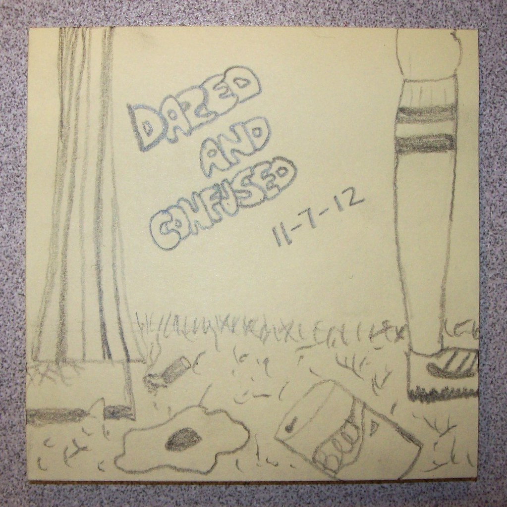 Post-It Note sketch, day 7