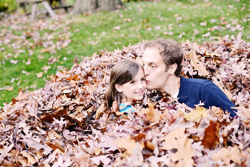 Leaf kiss from daddy.