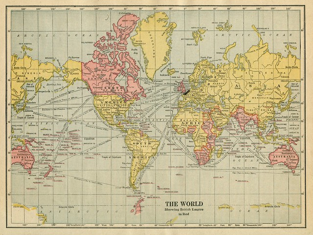 The World Showing British Empire in Red (1922) from Flickr via Wylio