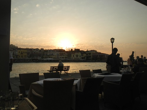 Chania Habor Sunset