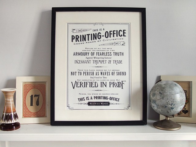 Printing office poster