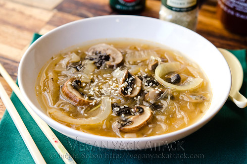 This filling, comforting, mushroom onion miso soup makes a great start to any meal. Plus, it's great for when you're feeling under the weather.