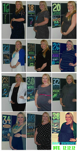 Baby Sweeney Baby Bump Collage Due 12.12.12 38 Weeks!