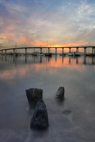 morning bridge sky reflection water clouds marina sunrise bay day sandiego cloudy tide sailboats coronado