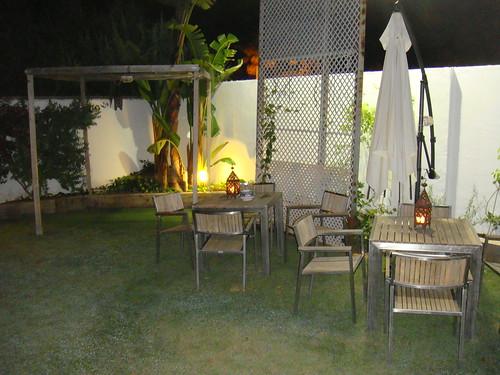 Detalle de la terraza-jardín