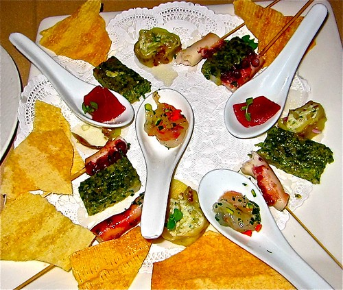 first assortment of appetizers