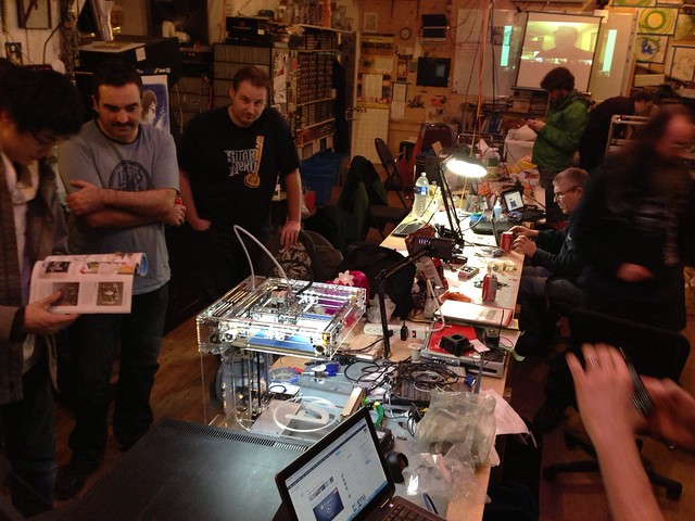 MAKE 3d printing meetup at VHS