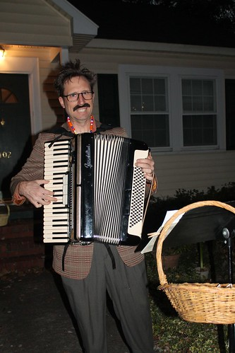 There was even an accordion player in College View playing creepy music (I think he stole one of our mustaches)