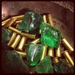 metal, gemstone, green, emerald,