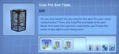 Crab Pot End Table