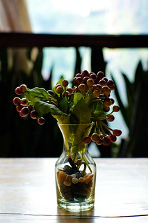 Vase and Berries