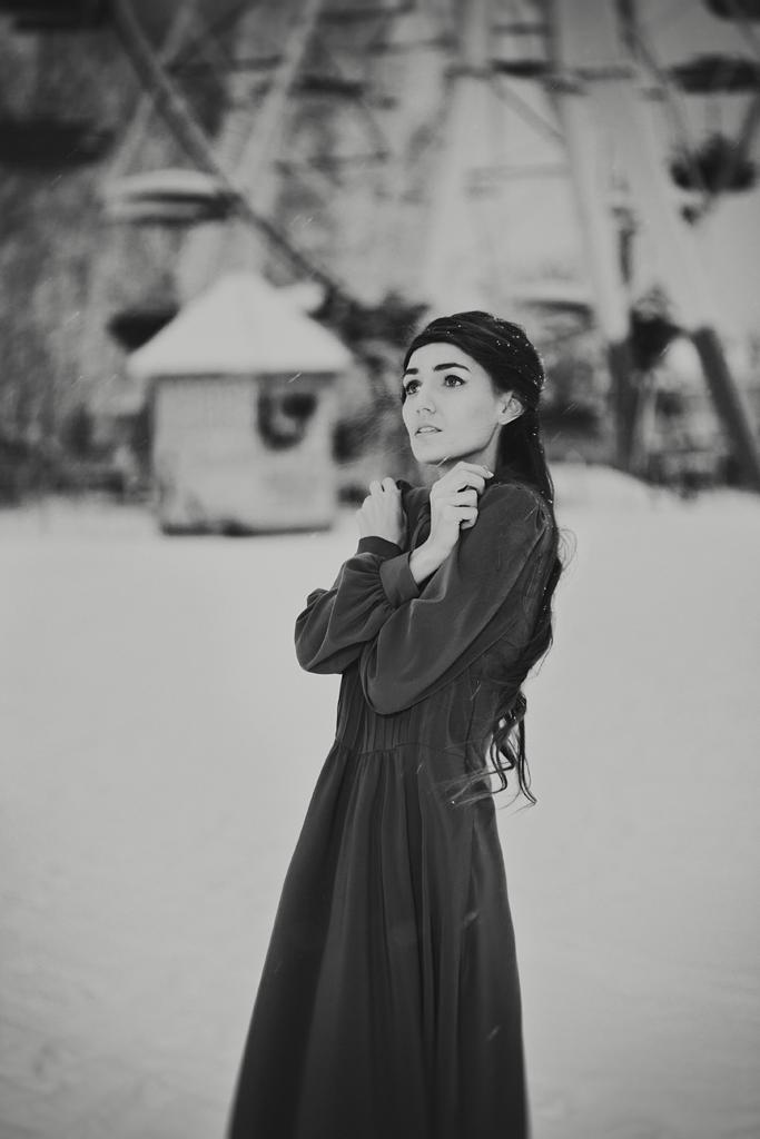 Зимняя творческая художественная фотосессия