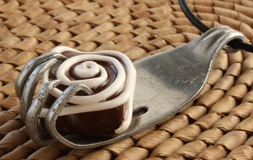 Flattened Fork Pendant