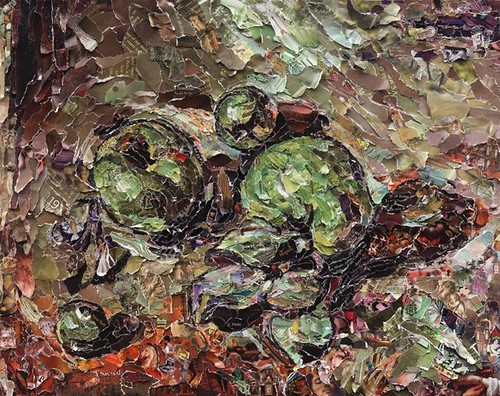Vik Muniz, Green Apples, after Cezanne, 2011