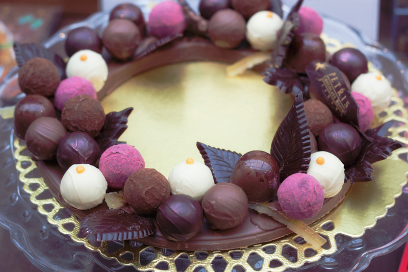 chocolate wreath
