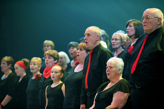 The Royal Opera House Thurrock Community Chorus singing in Awake in Chorus! © Paul Starr/ROH 2012