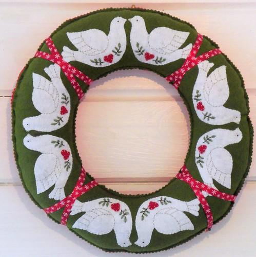 Christmas Dove Wreath