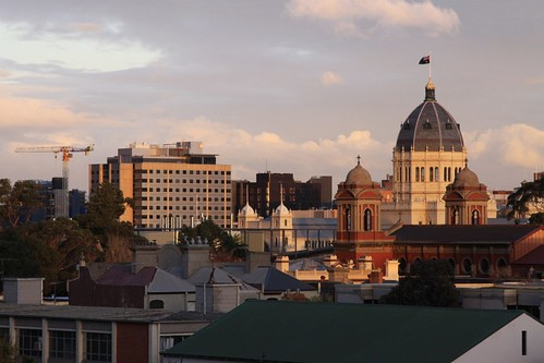 Royal Exhibition Building towers over Carlton