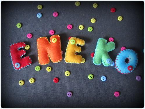 Marco de Fotos con Nombre en Fieltro - Eneko - ChikiPol