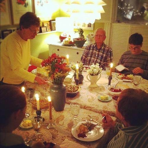 let the eating begin #thanksgiving