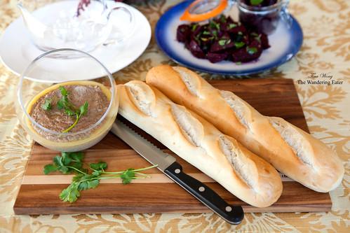 Homemade goose liver pâté