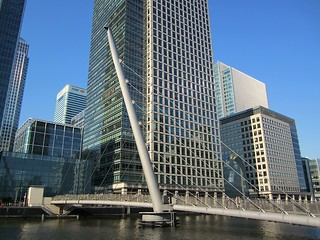 South Quay Footbridge and Canary Wharf