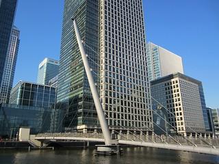 South Quay Footbridge and Canary Wharf