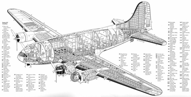 Boeing 307 Stratoliner cutaway